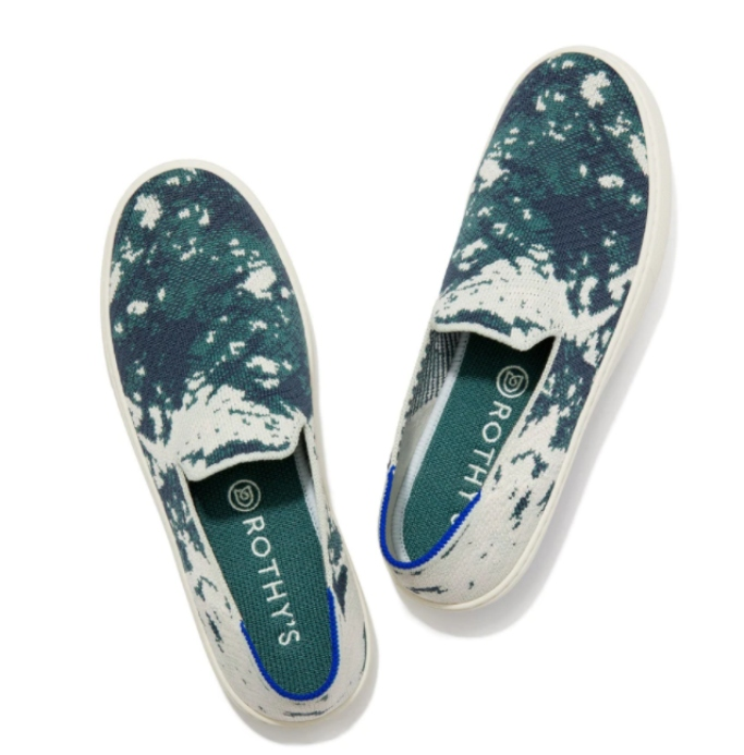 rothy's archive sale event, rothy's the sneaker in sea green