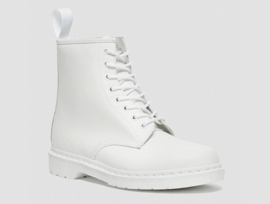 white boots, combat boots, dr martens