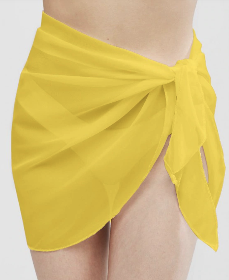 yellow skirt, sarong, zaful
