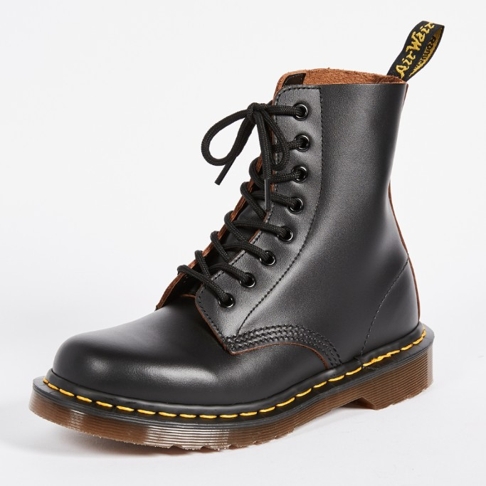 Dr. Martens 1460 8 Eye Boots, black boots for women