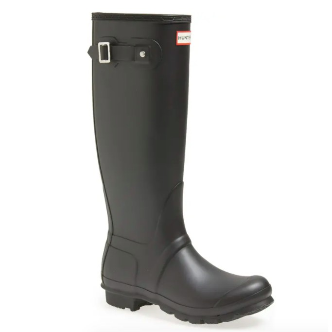 Hunter Original Tall Rain Boot, black boots for women
