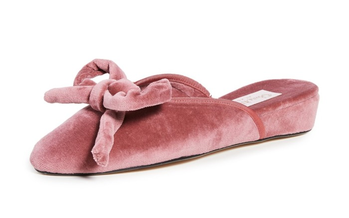 olivia morris home daphne bow slipper, house shoes