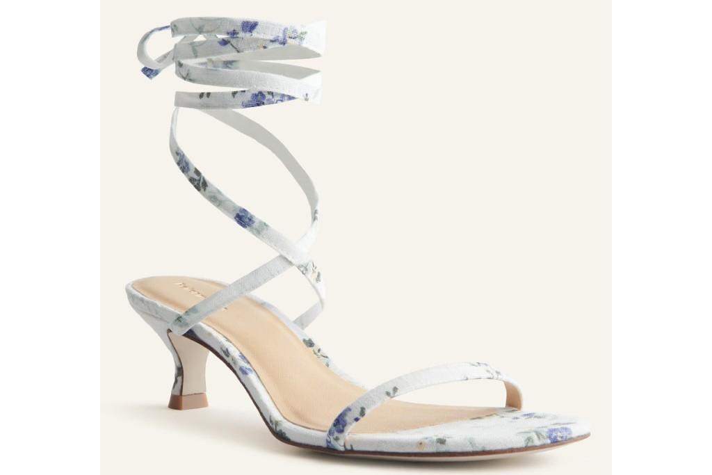 Reformation Carina Lace Up Mid Heel Sandal, spring sandal trends