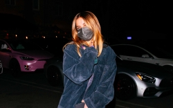 Addison Rae, jacket, leggings, nike air