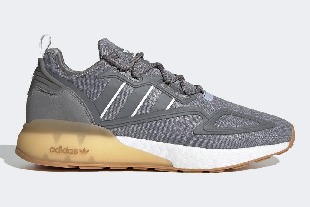 sneakers, gray, adidas