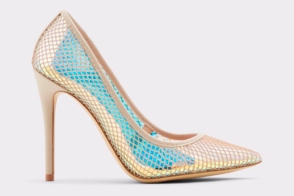 iridescent heels, pumps, pointed-toe, aldo
