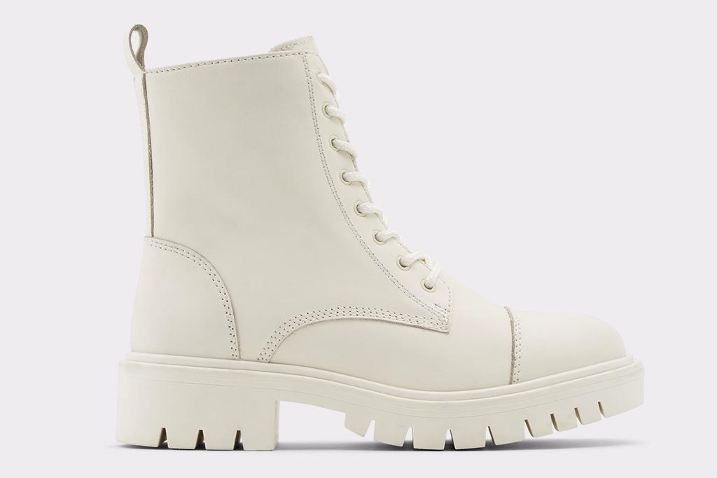 white boots, combat boots, aldo