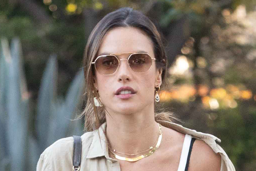 Alessandra Ambrosio's Crop Top, Leather Paperbag Pants & Combat Boots Perfect Spring Trends