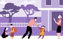 Fall Back to School Illustration