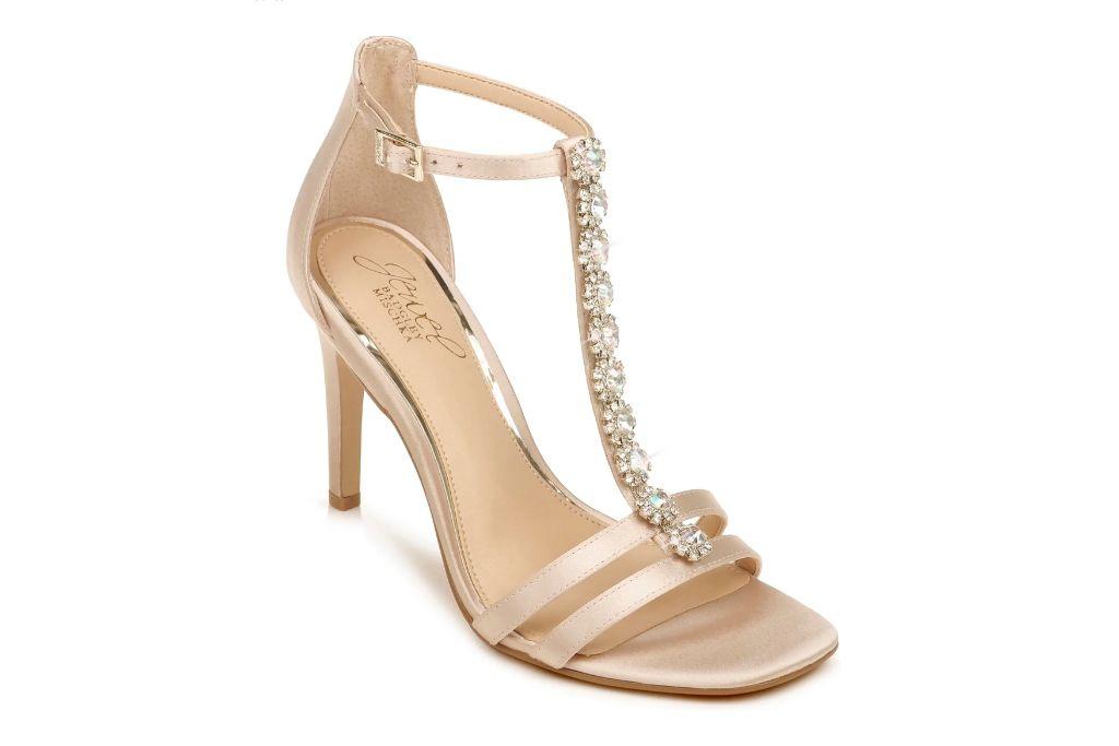 jewel badgley mischka, farida crystal embellished t-strap sandal