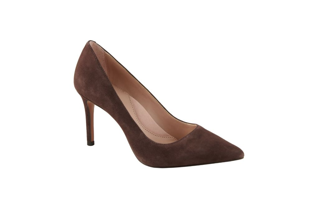 banana republic, madison 12-hour pump, brown heels