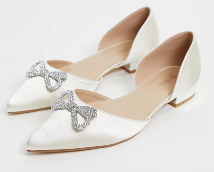 be mine bridal andi flat, best flat wedding shoes