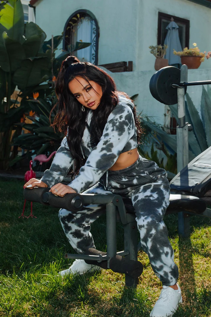 becky g, prettylittlething, tie dye joggers