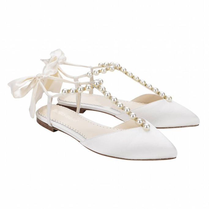 bella belle shoes pearls and crystal ivory, best flat wedding shoes