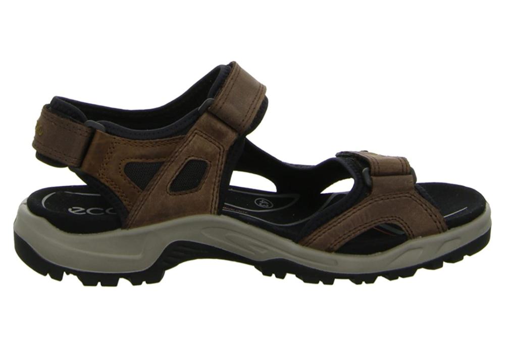 ecco yucatan sandals, best hiking sandals for men, brown hiking sandals