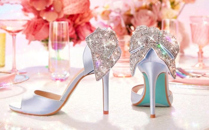 betsey johnson, david's bridal, wedding shoes, affordable, bridal shoes, heels, sneakers, flats