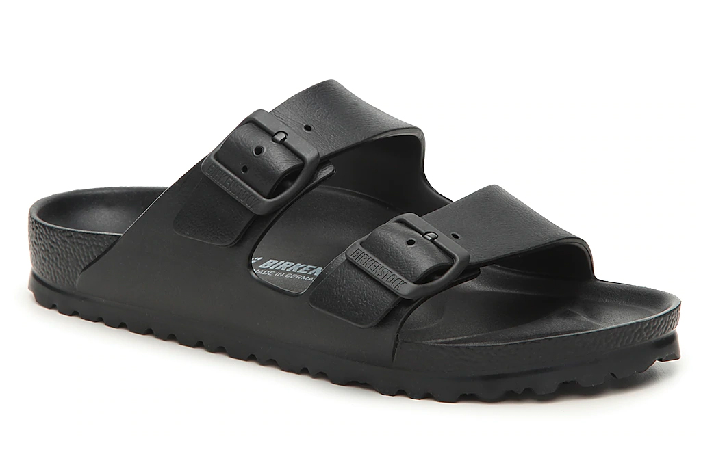 black sandals, double strap, birkenstock