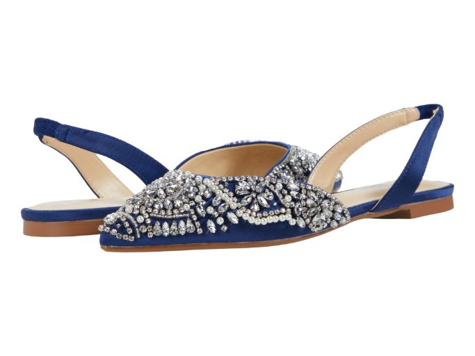 blue by betsy johnson molly, best flat wedding shoes