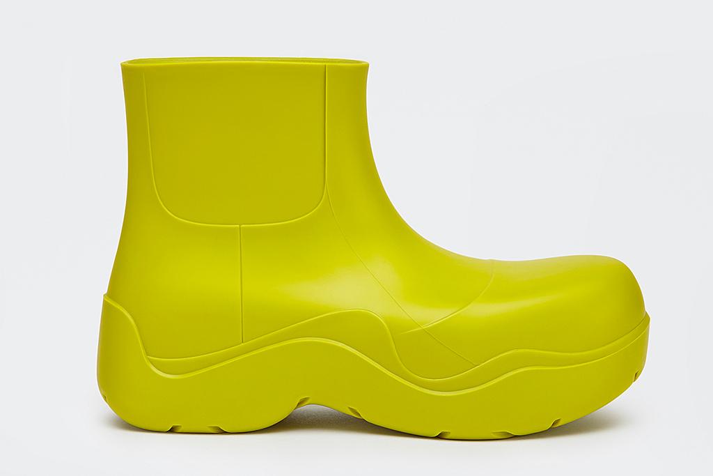 bottega veneta, boots, green, puddle