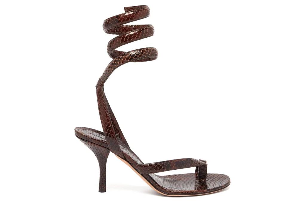 bottega veneta, sandals, heels, spiral