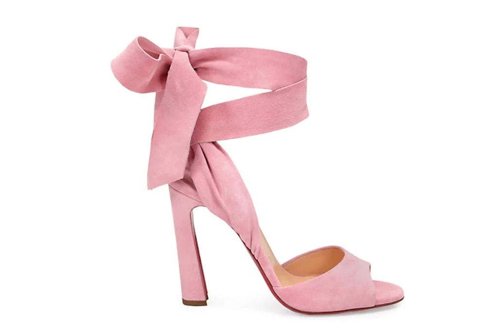 christian louboutin heel, pink heels, rose amelie louboutin