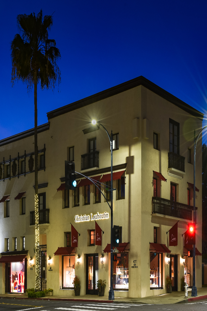 christian louboutin store, rodeo drive, los angeles
