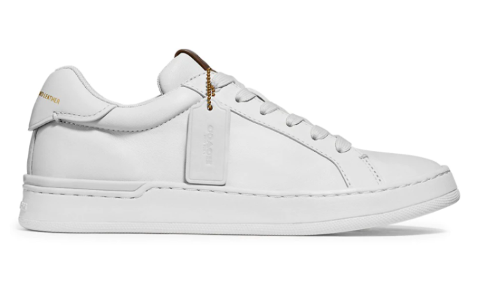 coach luxe leather sneakers, saks friends and family sale