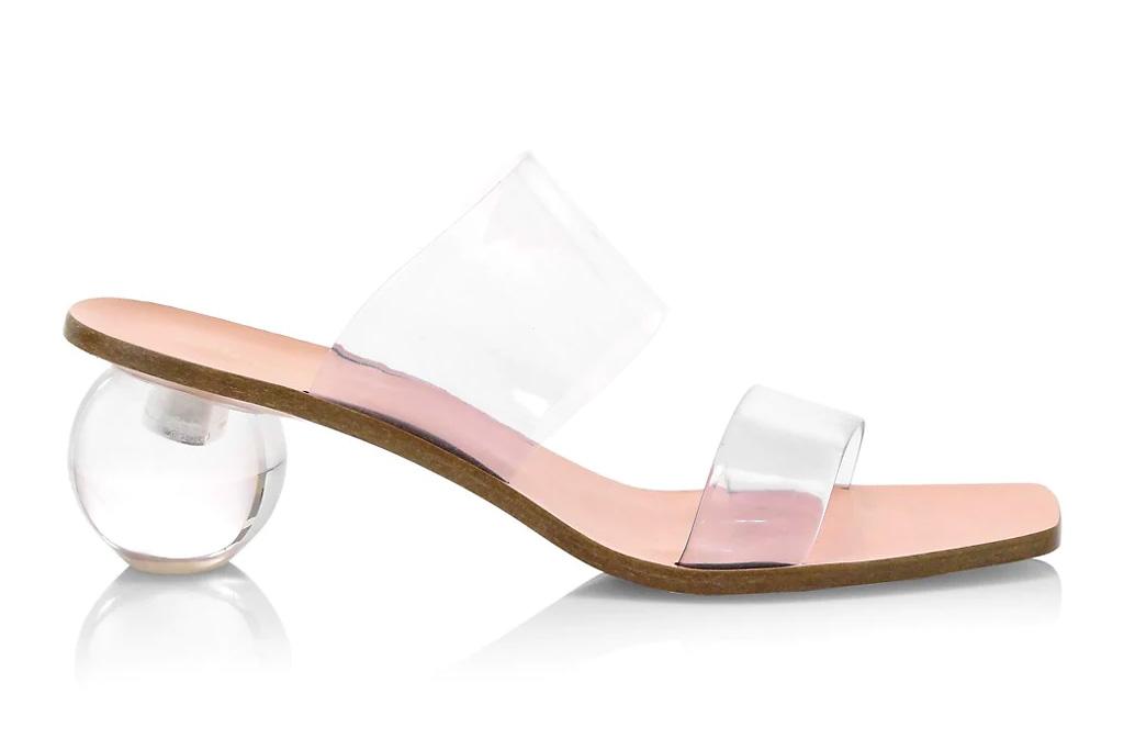 clear sandals, heels, cult gaia