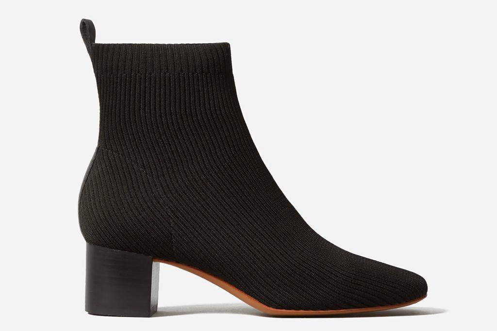 black booties, boots, everlane