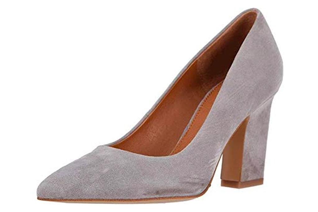 gray heels, pumps, franco sarto