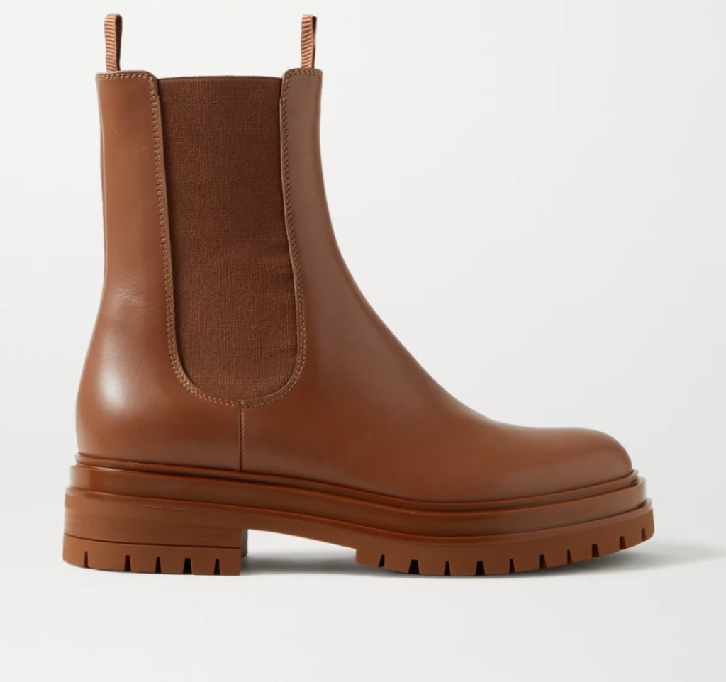 Gianvito Rossi Leather Chelsea Boots, brown boots