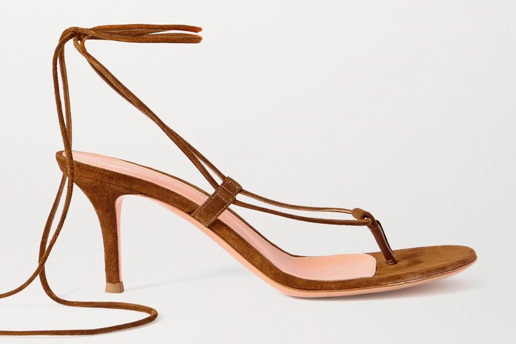brown sandals, heels, gianvito rossi