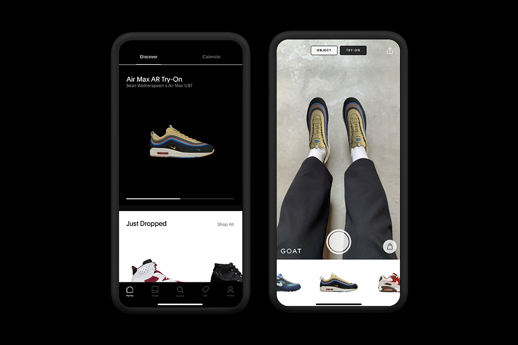 GOAT AR Try-On Nike Air Max Day
