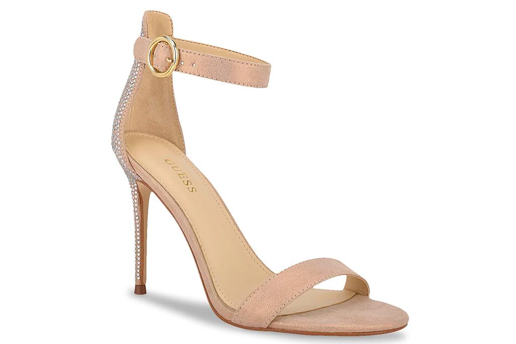 guess, heels, nude heels