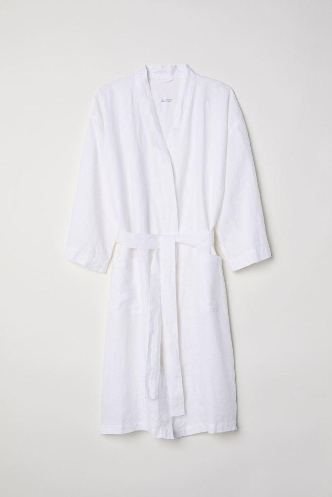 white robe,
