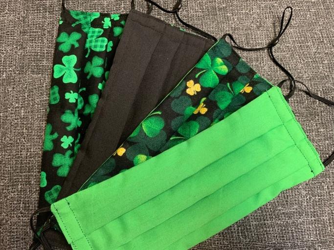 FootlooseValley Reversible St. Patrick's Day Mask, St. Patrick's Day Masks