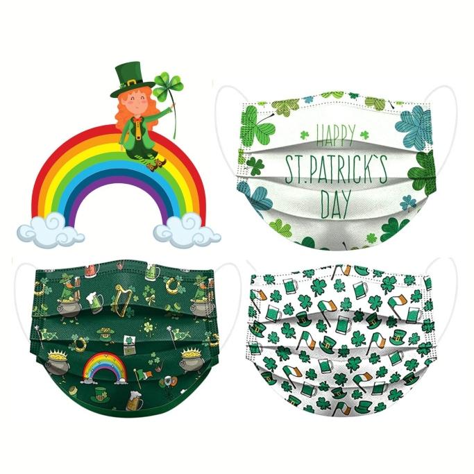 MaskFlair St. Patrick's Day Mask, etsy, st. patrick's day mask