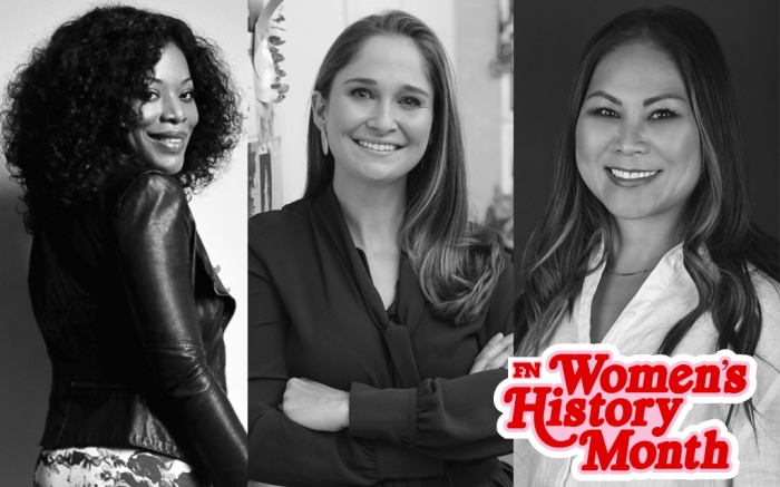 (L-R): Theresa Ebagua of Chelsea Paris, Sarah Flint of her namesake brand and Julie Kuo of Avre.