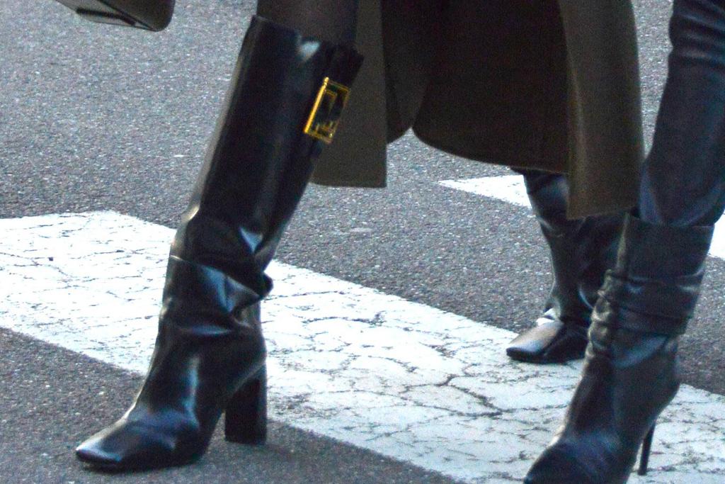 irina shayk, dress, tights, coat, boots, milan, mfw, model, knee-high boots