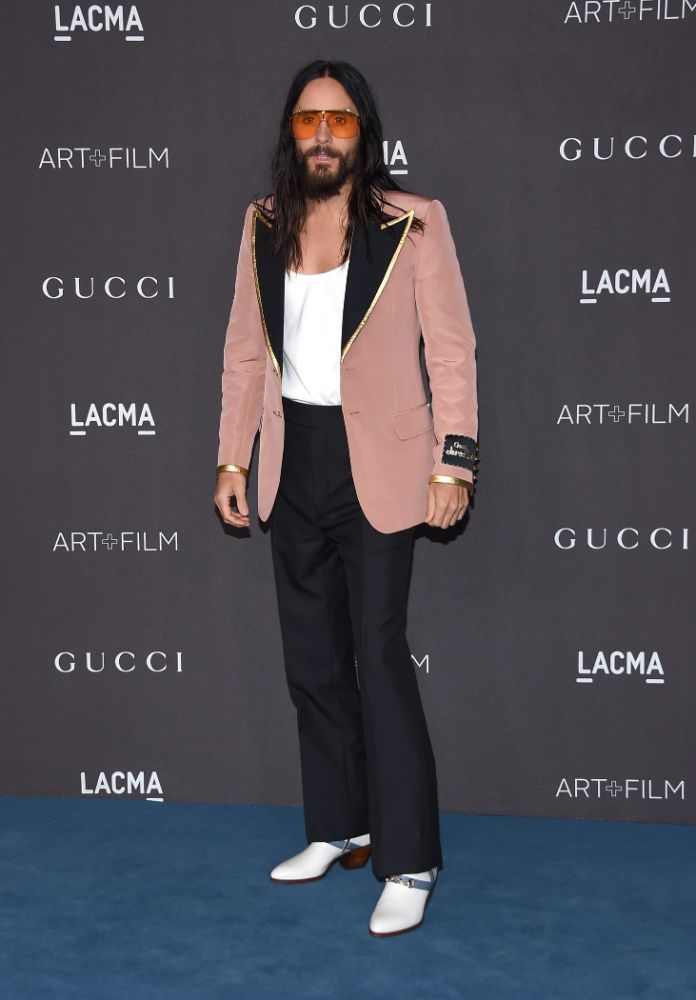 jared leto, heels, pants, show