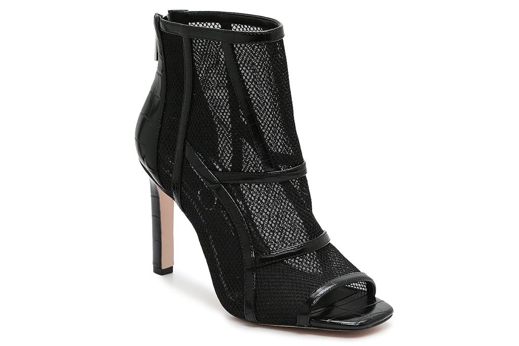 peep toe booties, boots, heels, black, jessica simpson