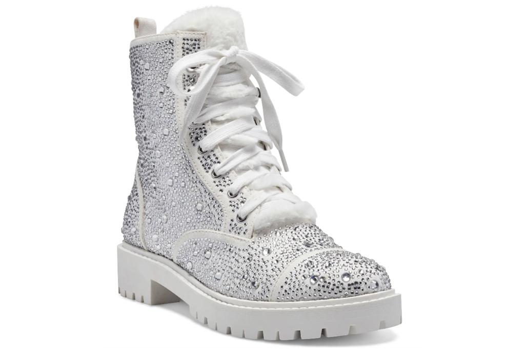 boots, combat boots, glitter, jessica simpson