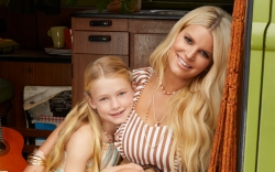Jessica Simpson Daughter Maxwell Campaign Shoot