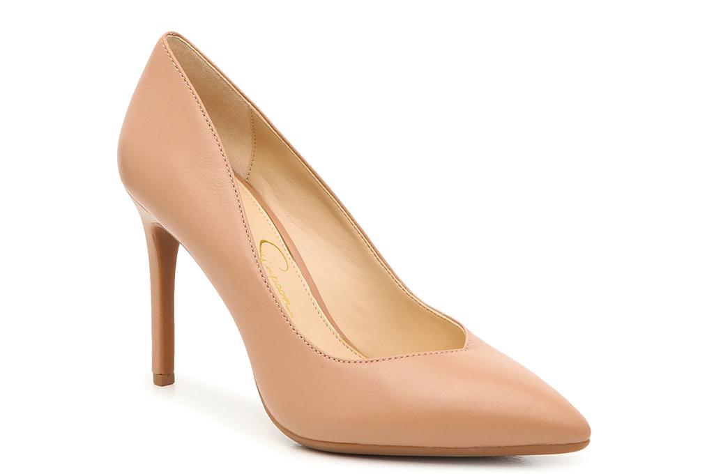 nude heels, pumps, jessica simpson