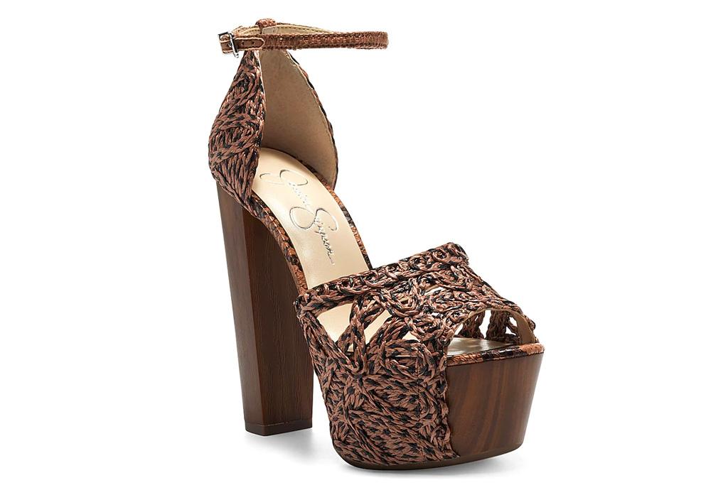 jessica simpson, sandals, platforms