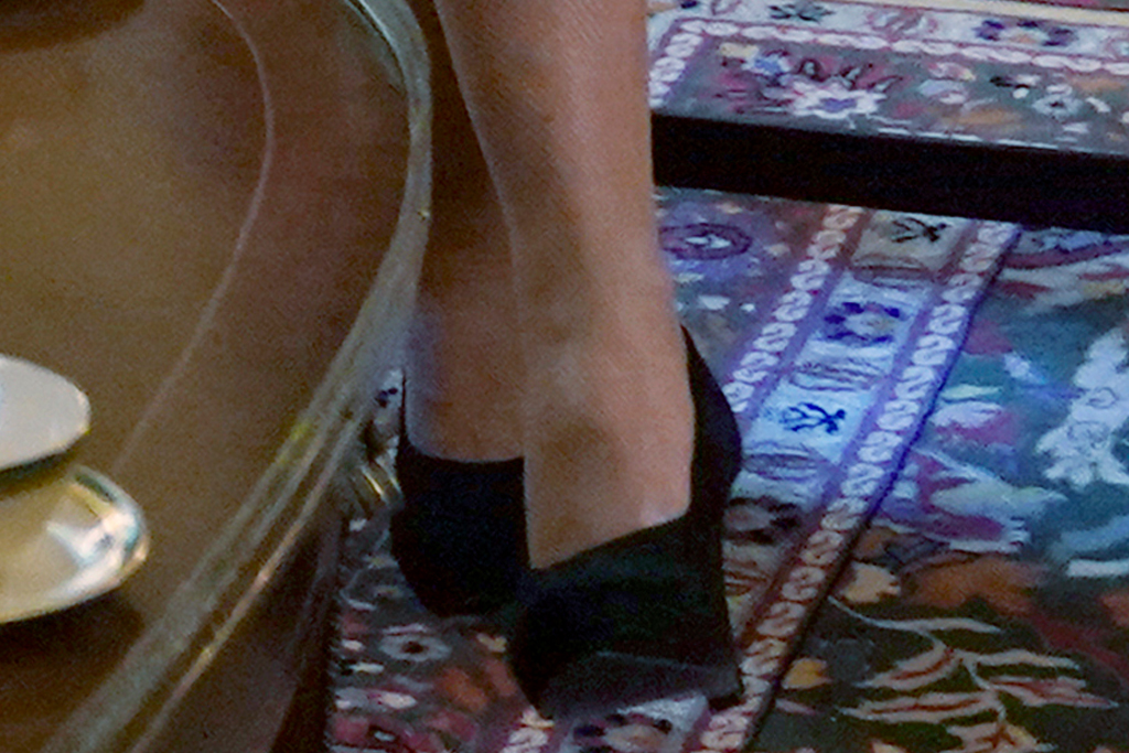 jill biden, blazer, green dress, heels, round-toe pumps, pearls, senators, white house, meeting