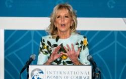 Jill Biden, lemon dress, International Women