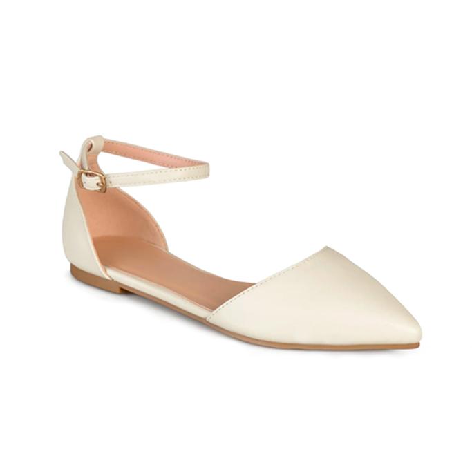 journee collection reba flat, best flat wedding shoes