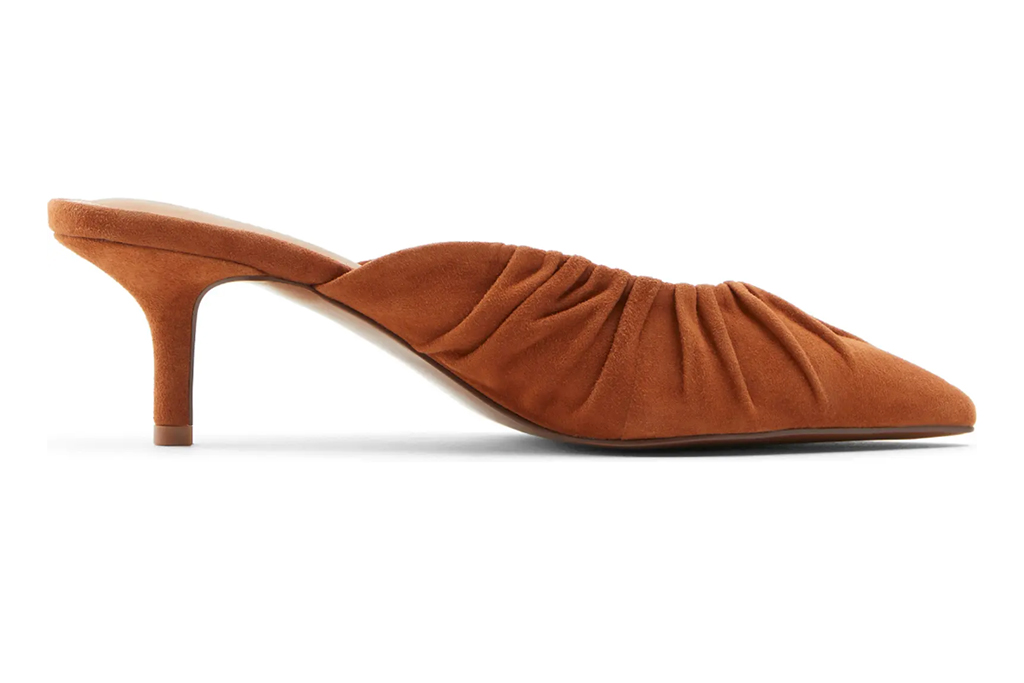 who what wear joy mule, tan mules, mules for spring