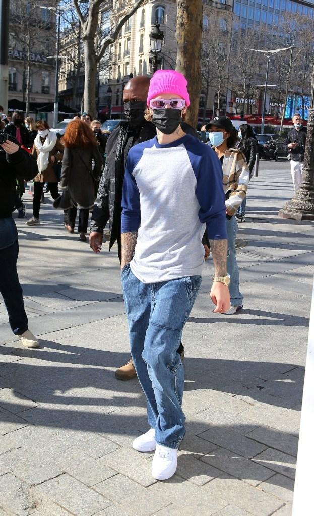 justin bieber, t-shirt, jeans, cargo pants, nike, paris, louis vuitton, music video, isabel marant, sneakers, sweater, paris, birthday